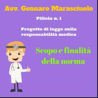Pillola 1 - Progetto di legge sulla responsabilità medica  - Scopo e finalità della norma