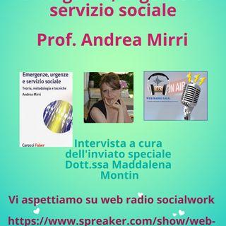 Andrea Mirri. Emergenze, urgenze e servizio sociale