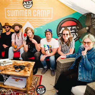Backstage with The Head and The Heart at ALT 98.7 Summer Camp
