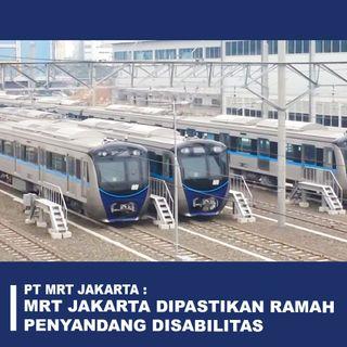 Podcast di Dalam Kereta MRT Jakarta Yang Terlihat Modern dan Ramah Untuk Difabel