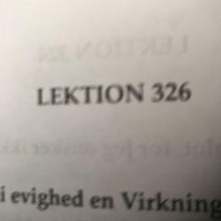 Lektion 326. Et kursus i mirakler.