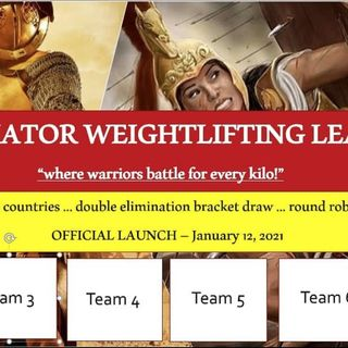 The Gladiator Weightlifting League! INFO with Greg!