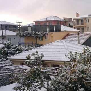 Snow in Lefkada
