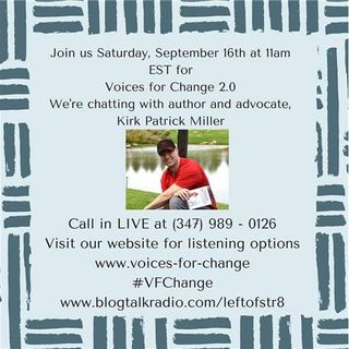 VFC 2.0: Welcomes Author, Advocate and Teacher, Kirk Patrick Miller