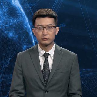 Él es el primer conductor de noticias virtual