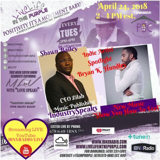 IndustrySpeaks with Shawn Bailey - mentoring Indie Artists to success - Bryan K Hundley guest artist