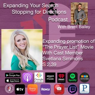 "Expanding promotion for the movie ""The Prayer List"" w/cast member Svetlana Simmons S2.39"