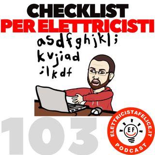 103 Cecklist per elettricisti