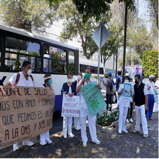 Enfermeras y enfermeros reclaman equipos de protección