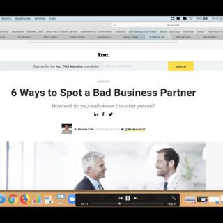 6 Ways To Spot A Bad Business Partner (2019)