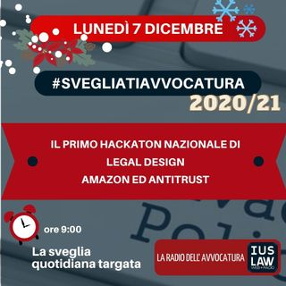 IL PRIMO HACKATON NAZIONALE DI LEGAL DESIGN – AMAZON ED ANTITRUST – #SVEGLIATIAVVOCATURA