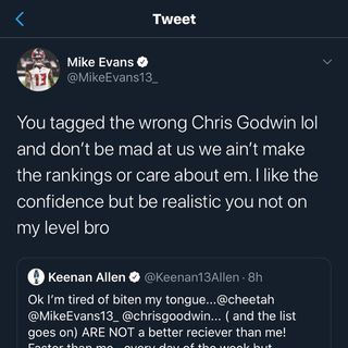 Keenan Allen Vs Mike Evans Breakdown