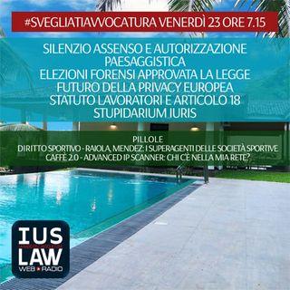 VENERDÌ, 23  GIUGNO 2017 #SvegliatiAvvocatura - LIVE