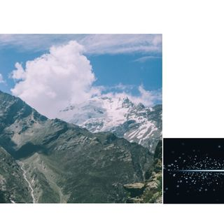 mountains becomes dust particles