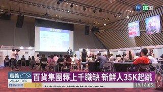 19:45 百貨集團釋上千職缺 新鮮人35K起跳 ( 2019-05-25 )