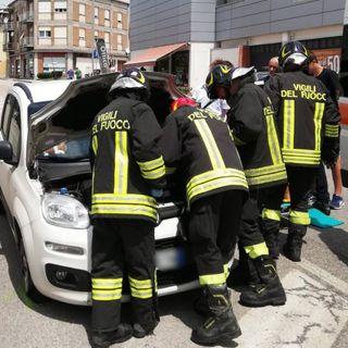 Panda si scontra con il bus Svt: ferita una donna, figlio e passeggero contusi