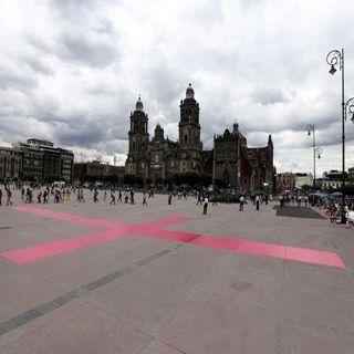 Piden alto a feminicidios en el zócalo capitalino