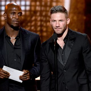 Patriots' Edelman, McCourty Present Award To Lady Gaga At Grammys