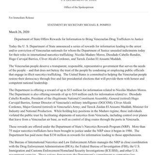 Golpe anunciado contra Venezuela
