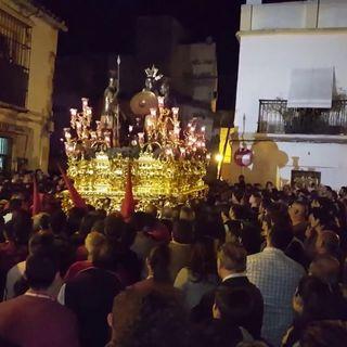 Martes Santo 2017. El paso de misterio de los Judíos de San Mateo en plaza San Lucas