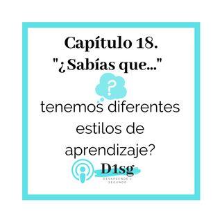 18_ ¿Sabías que tenemos diferentes estilos de aprendizaje?