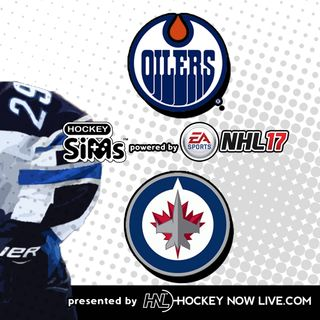 Oilers vs Jets (NHL 17 Hockey Sims)
