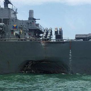 USS McCain Hit By Tanker;10 Sailors Missing