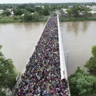 Migración confronta a México y Honduras