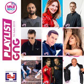 Programa 16 Julio - NUEVA LISTA EXITOS MUSICALES GNG - no te pierdas la mejor musica de este Verano 2019. NUEVO Nº1 para EL CHOJIN