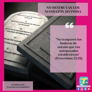 7 de septiembre - No destruyas los mandatos divinos - Una Nueva Versión de Ti 2.0 - Devocional de Jóvenes