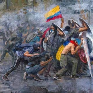 Differenti protagonisti della rivolta colombiana. La necropolitica uribista