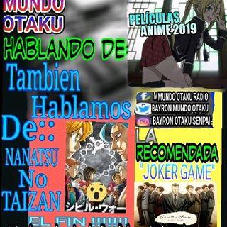 PELICULAS ANIME, FIN DE NANATSU NO TAIZAI?? LA RECOMENDADA JOKER GAME !!!! Comparte Y Ayudanos A Crecer