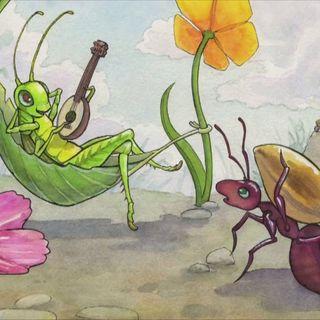 La cicala e la formica letta da Vittorio