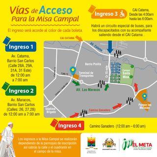 #50HORASENMODOPAPA ACCESOS MISA