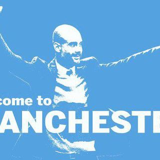 Pep Guardiola signs for Manchester City