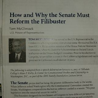 How and Why the Senate must Reform the Filibuster Part 2