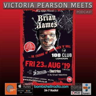 Victoria Pearson Meets : Brian James (The Damned)