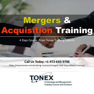 Mergers and Acquisitions Training By Tonex