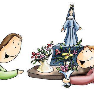 Ofrecimiento a la Virgen. 1º infantil