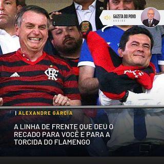 A linha de frente que deu o recado para você e para a torcida do Flamengo