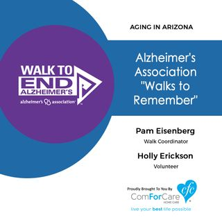 10/1/17: Pam Eisenberg with the Alzheimer's Association Desert Southwest Chapter and Holly Erickson with | Alzheimer's Association