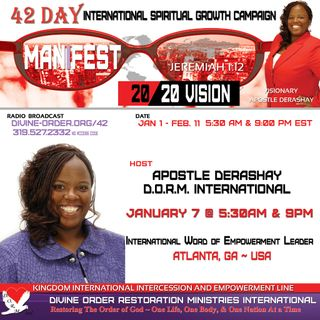 Take a Stand Against Opposition | Apostle Derashay  | 42 Day Manifest 20/20 Vision