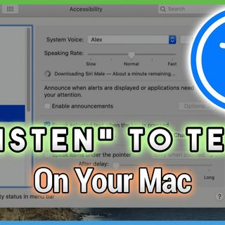 Hands-On Mac 17: Getting Your Mac to Read to You