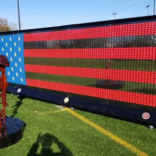 Flag Made From Dog Tags Of Fallen Soldiers Comes To Weymouth