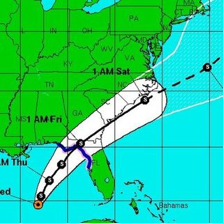 Tropical Storm Bearing Down On Florida