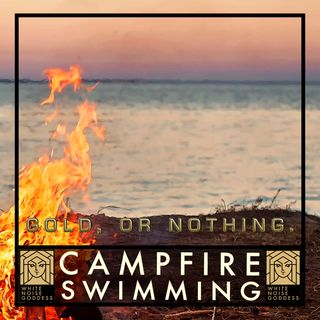 Swimming by a Campfire | White Noise | ASMR & Relaxation