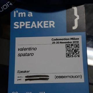 1059 Report #1 - Codemotion milano 2018