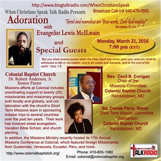 Special Guests Rev.  Cecil B. Cunigan & Sister Connie Perry- Simon on Adoration