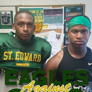 Interviews with St. Edward High School HC Lombardo, RB Jordan Castleberry, And SS Daylan Jernigan