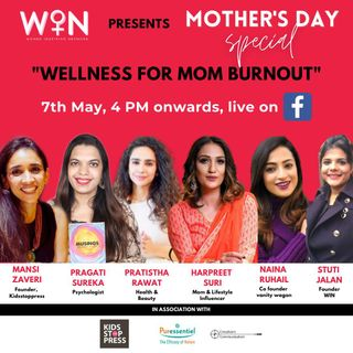 Panel Discussion Wellness Ana's Mom Burnout Pragati Sureka